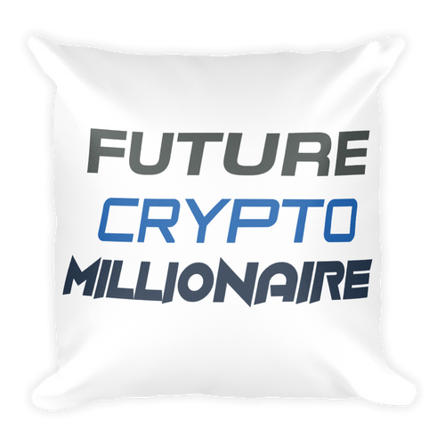 Future Crypto Millionaire High Quality Soft Square Pillow