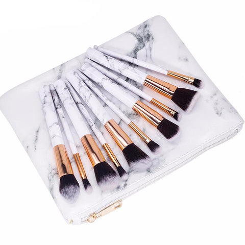 Professional Oval Makeup Brush Set 5 pcs