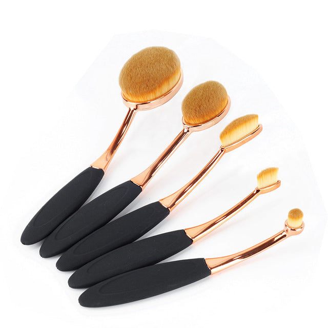 Professional Oval Makeup Brush Set