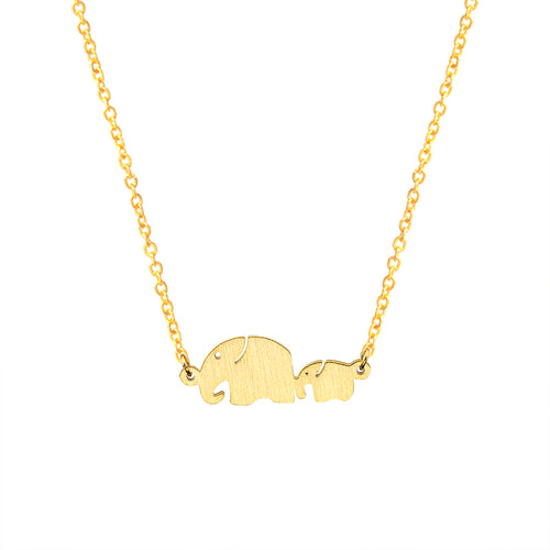 Mom & Baby Elephants Necklaces Pendants
