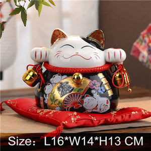 7.5 or 5 Inch Black Lucky Cat