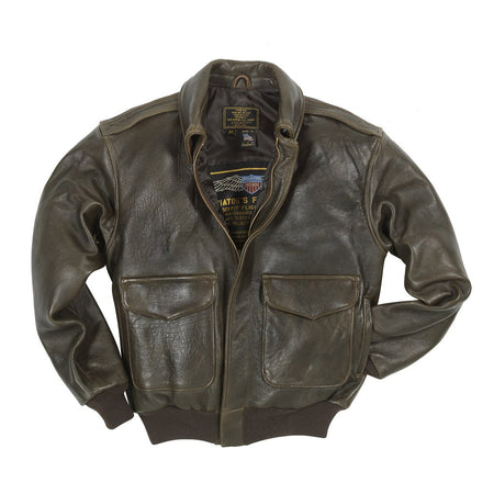 100 Mission A2 Flight Jacket-Flight Jacket-Leather Flight Jacket-USAF Jacket-Cockpit USA-Sierra Hotel Aeronautics