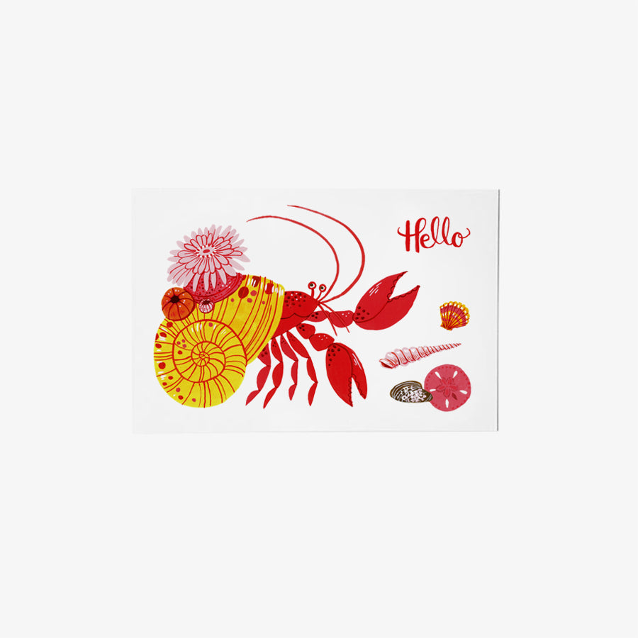 Hermit Crab | single postcard