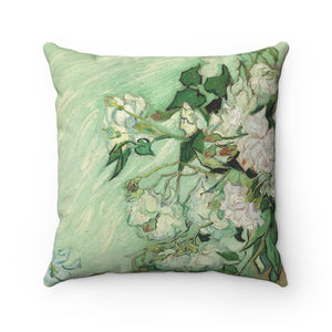 Faux Suede Square Pillow With Vincent van Gogh Artwork - justafive.com
