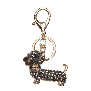 Crystal Doggy keychain For Purses And Handbags - justafive.com