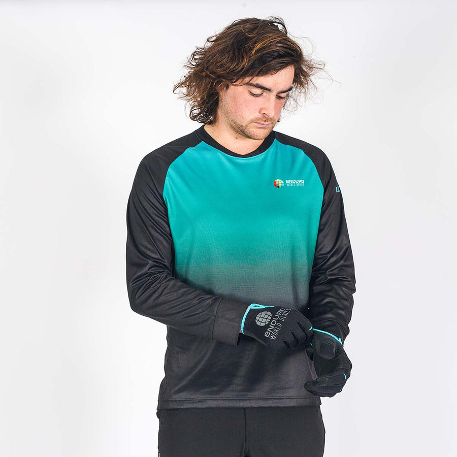 Stage Riding Jersey - Mens Teal Fade
