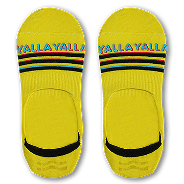 SIKASOK Yellow Yalla Yalla Invisible Socks