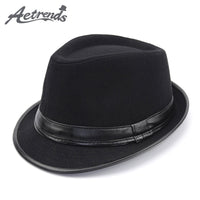 AETRENDS Men Vintage Wool Felt Panama Cap