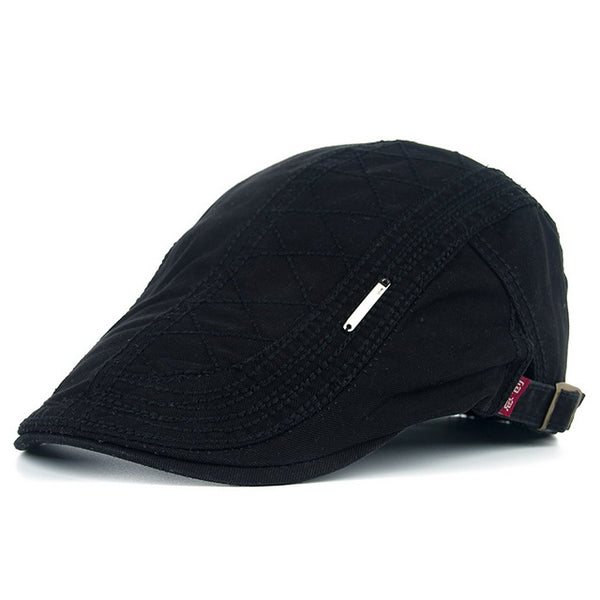 JOYMAY Men's Casual Peaked Cotton Berets Caps