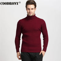 COODRONY Men's 100% Cashmere Turtleneck Slim Fit Sweaters