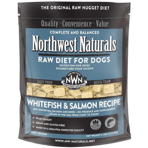 Northwest Naturals Frozen Whitefish and Salmon Nuggets 6 lb