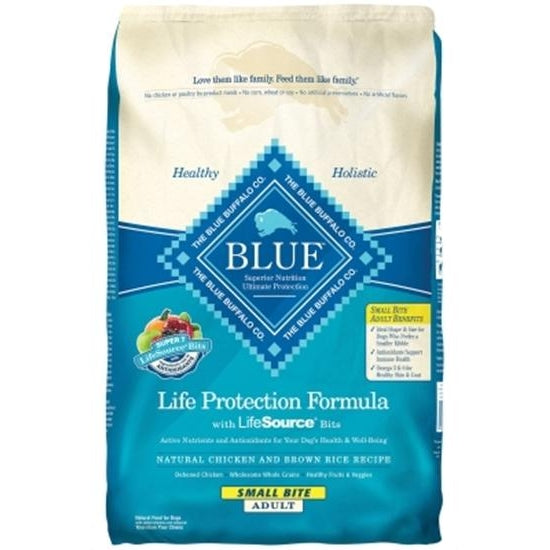 Blue Buffalo Small Bites Chicken Adult Dog Food  15 lbs