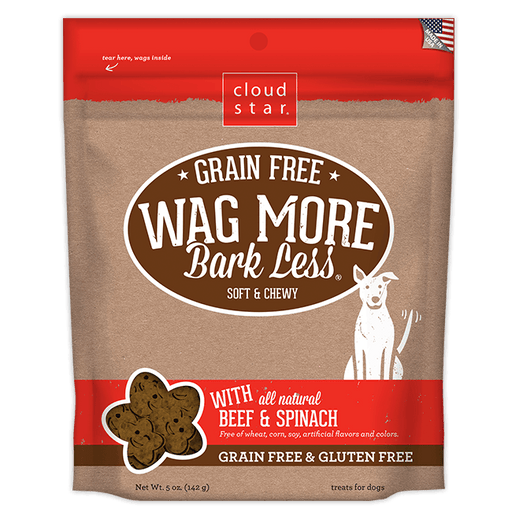 Wag More Bark Less Grain Free Dog Treats 5oz - Beef and Spinach