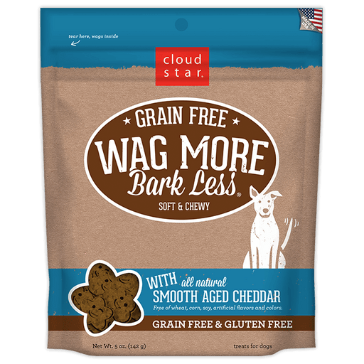 Wag More Bark Less Grain Free Dog Treats 5oz - Cheddar