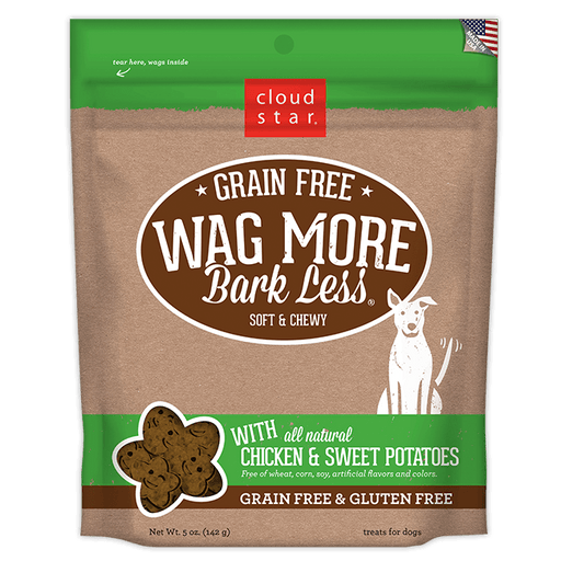 Wag More Bark Less Grain Free Dog Treats 5oz - Chicken and Sweet Potato