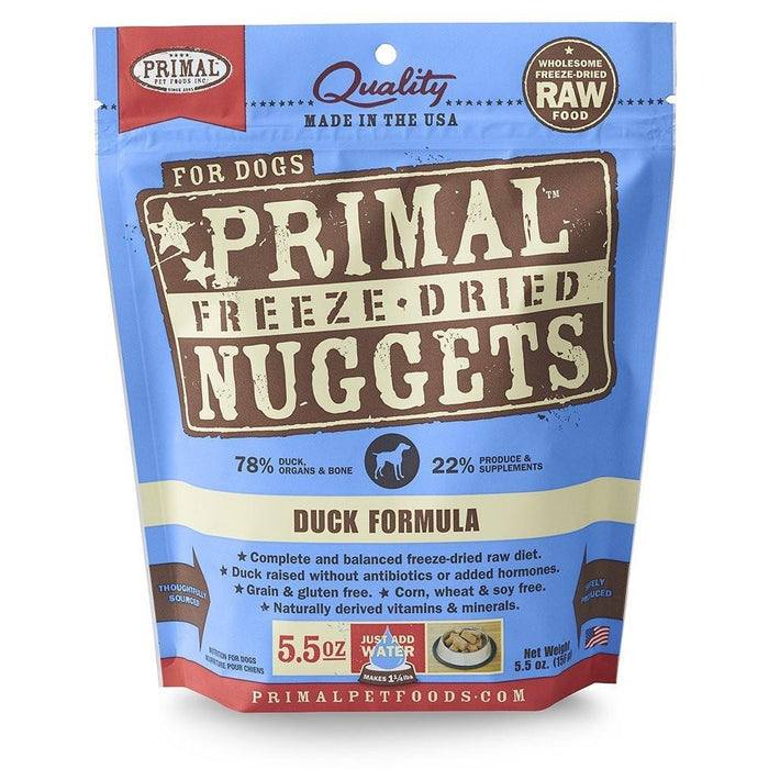 Primal Freeze-Dried Duck Nuggets for Dogs