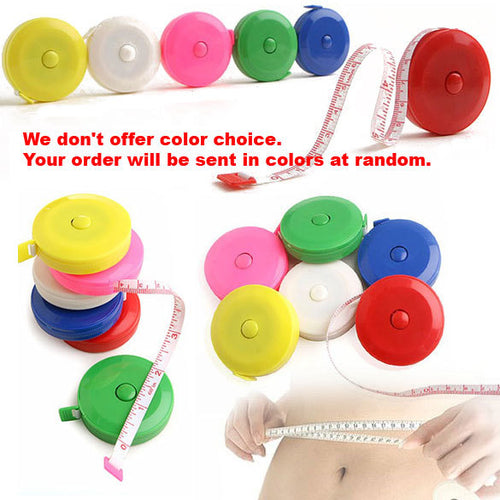 150 cm 60 in measuring tape in yellow, red, blue and green