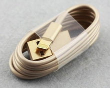 USB to lightning cable with gold connectors for iPhone and iPad