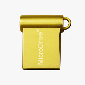 miniature USB 2.0 flash drive gold