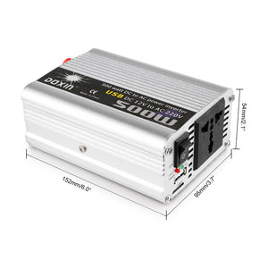 500W Car Inverter 12v to 220v 50Hz Cigarette Lighter Plug Power cables Inverter Peak Power 1000W