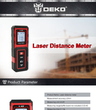 40 metre Mini Digital Laser distance meter Tape measure Area/volume Tool
