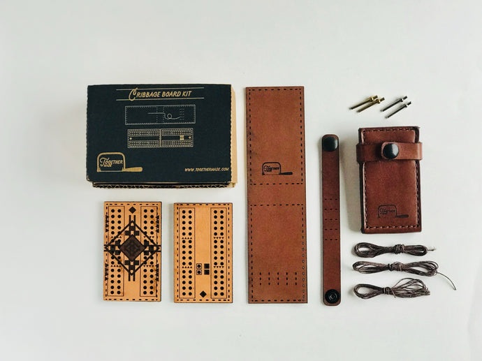 TogetherMade Leather Travel Cribbage Board (SOLD OUT)