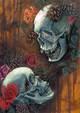 Skulls and Roses Diamond Painting
