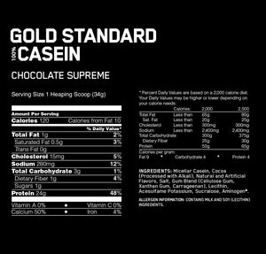 ON Nutrition Gold Standard 100% Casein Chocolate 4lbs
