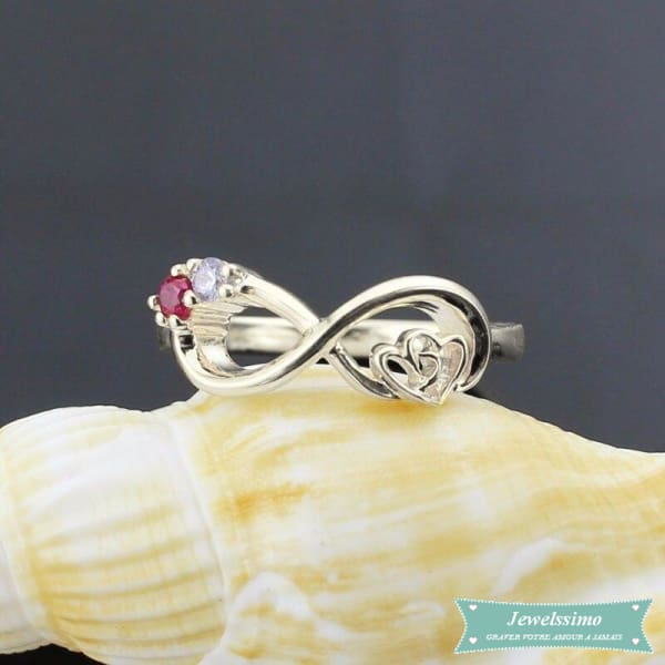 Bague Infini My Heart Is Your Love En Argent
