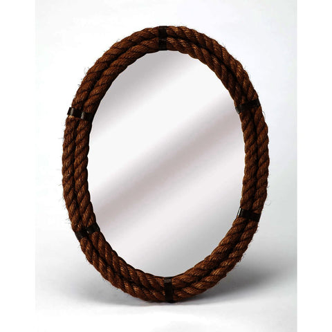 Butler Mountain Lodge Darby Oval Rope Wall Mirror