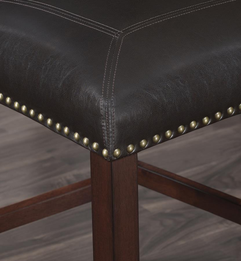 Comfort Pointe Carteret Brown Leather Counter Stool