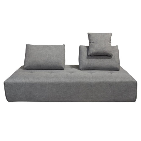 Diamond Sofa Cloud Lounge Seating Platform w/Moveable Backrest Supports in Space Grey Fabric