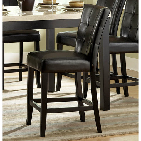 Homelegance Archstone Counter Height Chair w/ Black Bi-Cast Vinyl