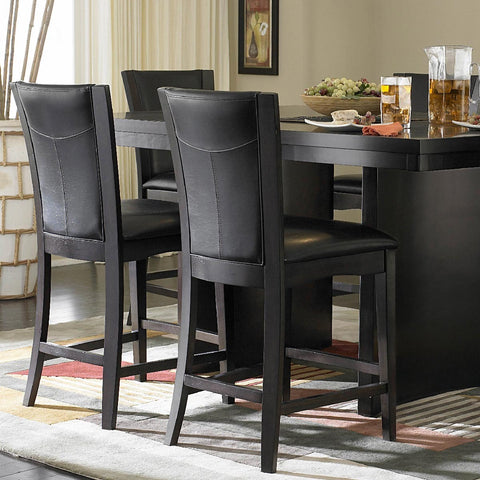 Homelegance Daisy Counter Height Chair in Espresso