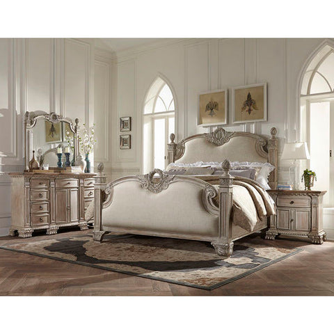 Homelegance Orleans II 5 Piece Set In White Wash