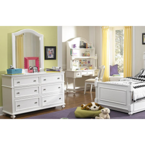 Legacy Madison Arched Dresser Mirror In Natural Painted White