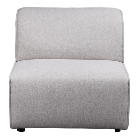 Moes Home Rodeo Slipper Chair in Light Grey