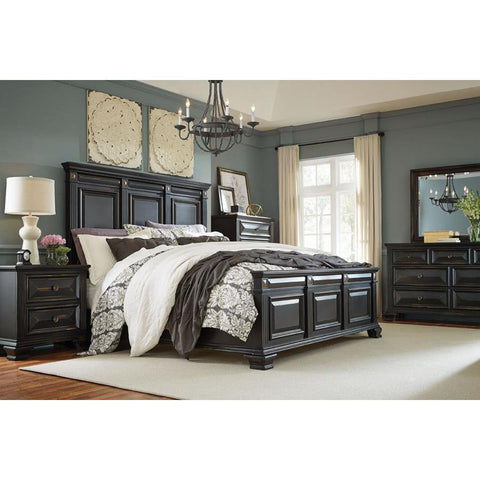 Standard Furniture Passages 4 Piece Panel Bedroom Set w/Chest in Black