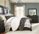 Standard Furniture Passages Panel Bed in Black