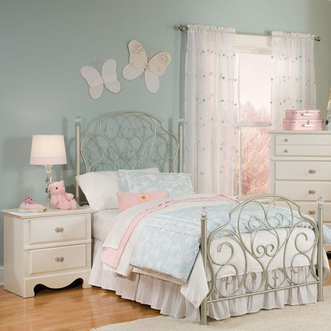 Standard Furniture Spring Rose Metal Kids Bed