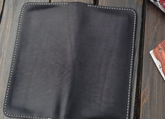 Handmade Leather Wallet Mens Clutch Wallet Cool Wallet Long Wallets for Men