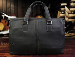 Handmade Leather Mens Cool Messenger Bag Briefcase Chest Bag Bike Bag Cycling Bag for men