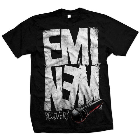 Eminem Recovery Microphone Black T-Shirt