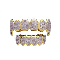 Top & Bottom Iced Out Grillz Set