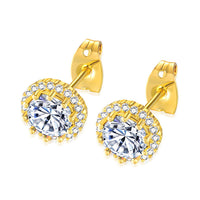 Bling Iced Out Stud Earrings
