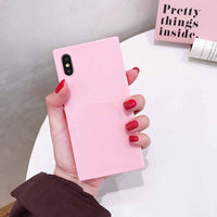 2019 NEW Candy colors Square Phone Case For iPhone X Xs max XR 6 6S 7 8 Plus Cases 7Plus 8Plus Silicone Soft Luxury Cover Coque