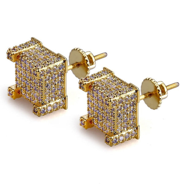 Iced Out Square Stud Earrings