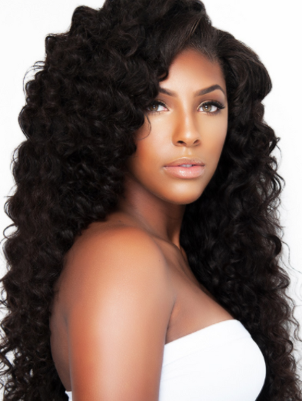 LUXURIOUS LOOSE CURL GLUELESS LACE WIG - The Extension Gallery