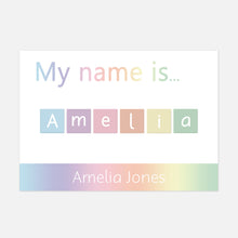 Personalised 'My name is...' Spelling Mat © (Rainbow) | EYFS Learning Resources for Toddlers and Pre-School Children