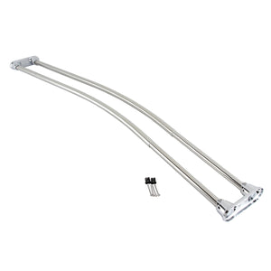 "Edenscape Adjustable (60""-72"") Double Curved Stainless Steel Shower Curtain Rod"